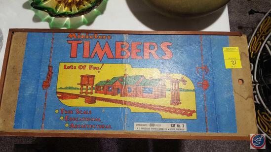 Vintage Miniature Timbers Set
