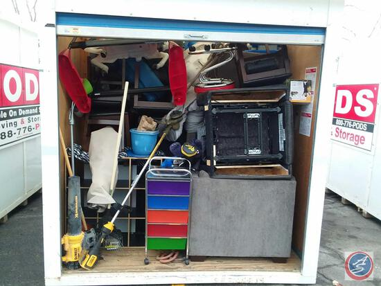 "Complete Contents of 193"" x 92'' Storage Pod 148B76. A $50 Refundable Clean-Out Deposit is Required."