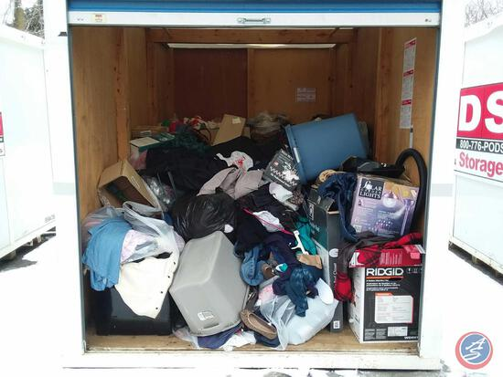 "Complete Contents of 145"" x 92'' Storage Pod 39A76. A $50 Refundable Clean-Out Deposit is Required."