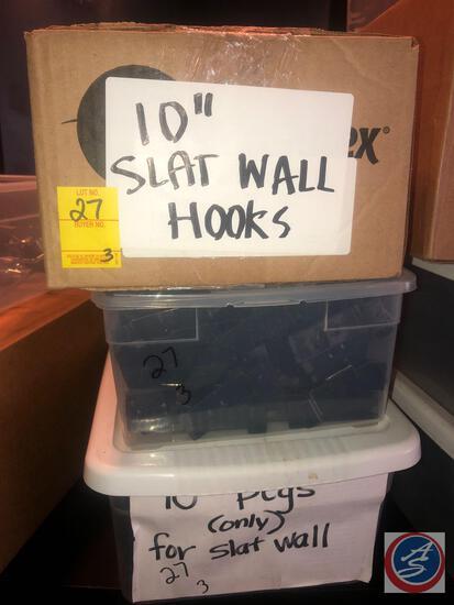 "10"" Slat Wall Hooks"
