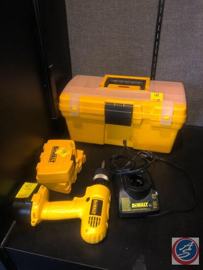 """Keter Tool Box with DeWalt Cordless 3/8"""" Drive Drill Model No. DW927 [[BATTERY INCLUDED]], DeWalt"""