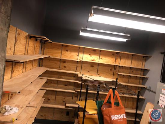 """Wooden Shelving Including Shelves, Tracks and Brackets, Shelving Measuring 48"""" X 12"""" and 36 3/4"""" X"""