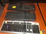 HP Keyboard Model No. PR1101U, DIT Keyboard [[NO MODEL NO. VISIBLE]] and Microsoft Keyboard Model