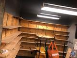 Wooden Shelving Including Shelves, Tracks and Brackets, Shelving Measuring 48