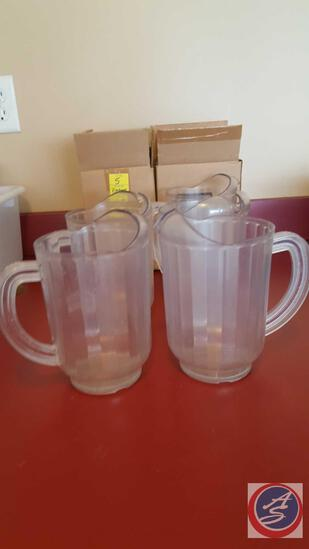 (2) Lipton Pitchers New in Box and (5) Water Pitchers