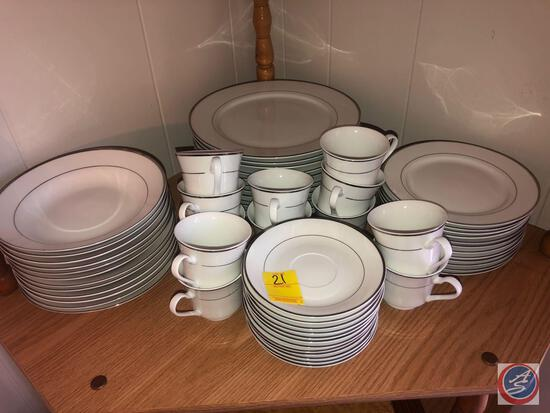 Gibson Housewares China Set Including (12) Cups, (12) Saucers, (12) Bread and Butter Plates, (12)