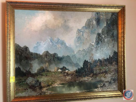 "Original Framed Oil Painting Signed by Willi Bauer Measuring 41"" x 33"""