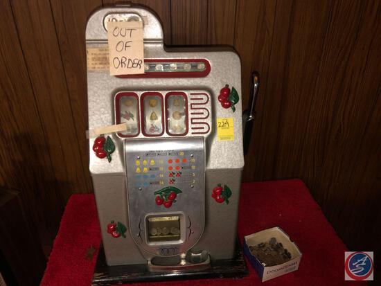 Vintage 10 Cent Slot Machine
