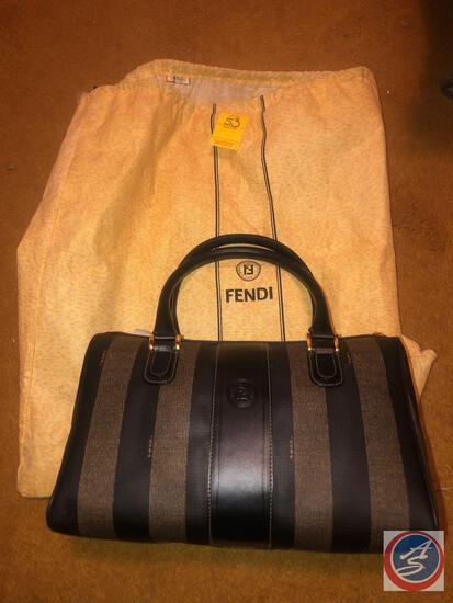 Fendi Handbag with Gold Accents
