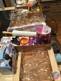 Assorted Holiday Cookie Cutters, Rolling Pin, Mickey Mouse Tin Box, Progressive International Cookie