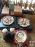 Williraye Studio Girl Holding Pie Decorative Plate, Williraye Studio Girl Holding Birdhouse