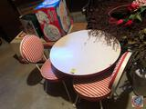 Red and White Children's Table Measuring 24