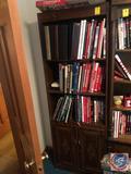 Three Tier Bookshelf with Cabinet Measuring 24