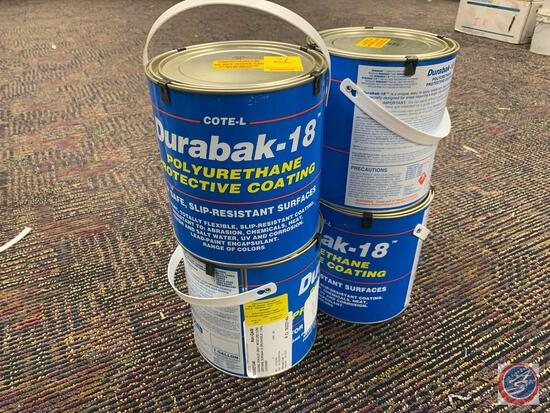 {{LOCAL PICK UP ONLY, NO SHIPPING AVAILABLE}} {{4X$BID}} (4) Gallons of Gray Urethane Paint
