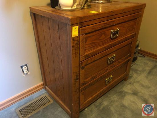 "Young Hinkle Three Drawer Dresser Measuring 30 1/2"" X 18"" X 30"""