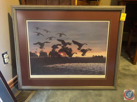 """John Bald Signed Framed Print Titled """"Second Harvest"""" Marked 932/1500 Custom Framed by Northwest"""