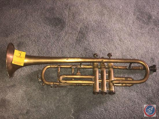 Vintage Trumpet By John Grey and Sons Marked Made at the French Factory