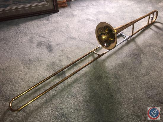 Vintage Trombone Made by the Selmer Company U.S.A and Designed by Vincent Bach Bundy [[MISSING MOUTH