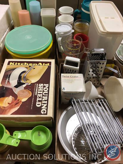 Acme Twist Grater, (2) Hand Held Graters, Biscuit Cutter, Pie Pan, (2) Small Cooling Trays,