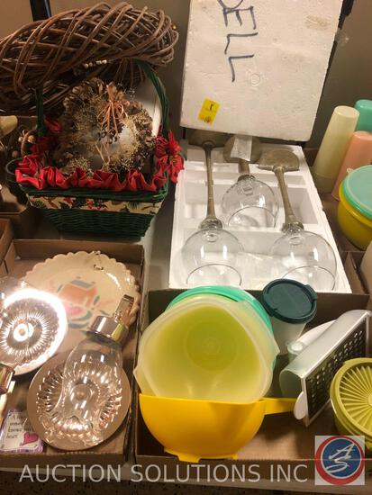 Assorted Tupperware Containers, Tupperware Grate-N-Measure, (3) Home Essentials and Beyond Single