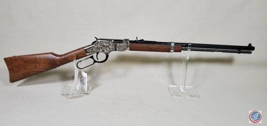 Henry Model Silver Eagle 22 Win Mag Rifle Factory Engraged, Newin Box Lever Action Rifle Ser #