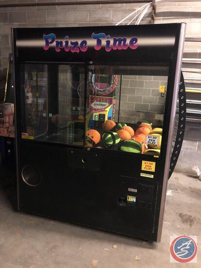 "Smart Industires Mfg. Corp Prize Time Claw Machine Model No. PT60 Measuring 60"" X 33"" x 75"""