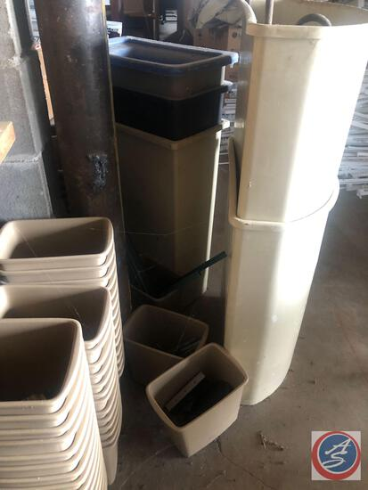 Assorted Small, Medium and Large Trash Receptacles
