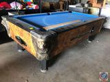 Irving King Co. Incorporated Silver Shadow Billiards Table Marked S-86645 [[CUES NOT INCLUDED]]