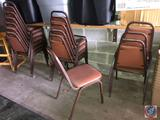 (16) FDL Padded Upholstered Chairs Measuring 32 1/2