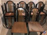 {{8X$BID}} MTS Dining Chairs Measuring 35 1/2