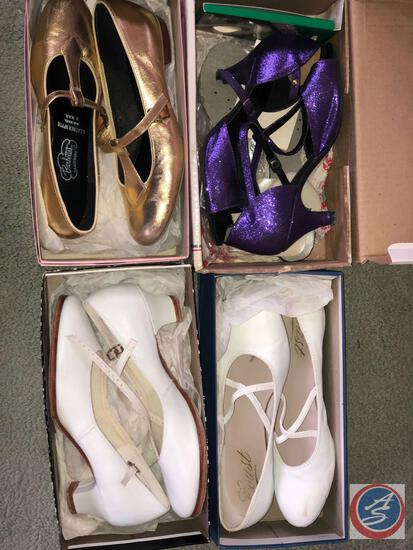 Professional ballroom Dancing Shoes - Incl. (2) Supradance Shoes, Barbette's and Capezio Dance Shoes