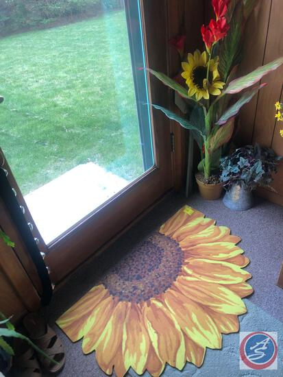 Sunflower Welcome Mat, Sunflower Decorations