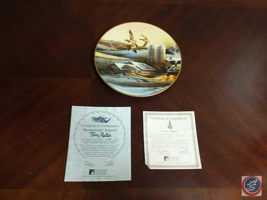 """Terry Redlin Collector Plate """"Evening Company"""" Plate Number 2591/95000 By Hadley House W/"""