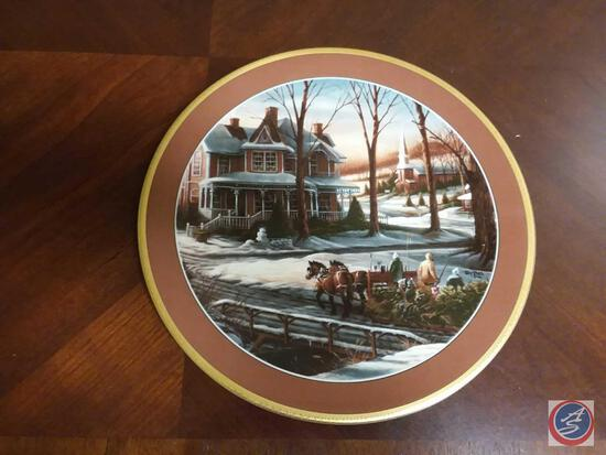 """Terry Redlin Collector Plate """"Homeward Bound"""" Plate Number 6888/9500 By Hadley House Measures 10"""