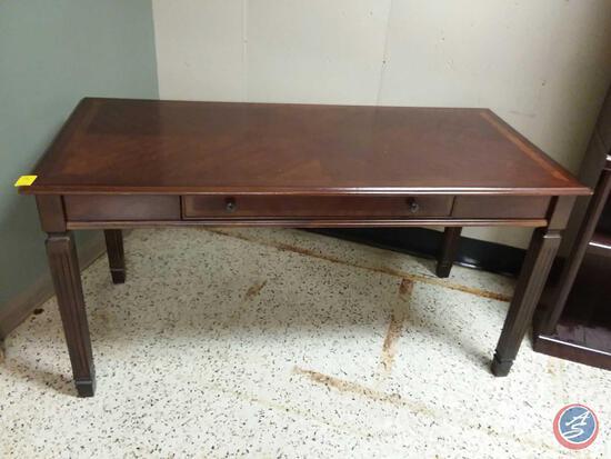 "Desk With Drawer: Medium Brown Finish Measuring 60"" X 28"" X 30 1/2"""