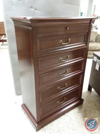 "Ethan Allen Six Drawer Dresser Measuring 38"" X 20"" X 56"""