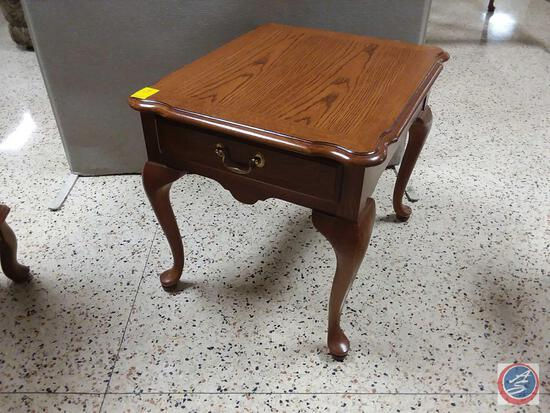 """Thomasville Side Table With Drawer Measuring 22"""" X 26"""" X 22"""""""