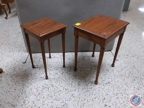 """(2) Side Tables First One Measures 17 1/2/"""" X 14 1/2"""" X 23"""", Second One Measures 13"""" X 13"""" X 22"""""""