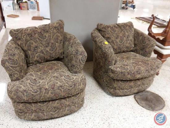 {{2X$Bid}} (2) La-Z-Boy Rocking And Swiveling Arm Chairs {{Sold Two Times The Money}}