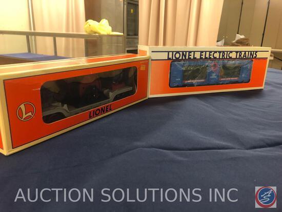 {{2X$BID}} 1996 Lionel 3650 Lionel Lines Extension Searchlight Car No. 6-16720 and 1989 Lionel 3436