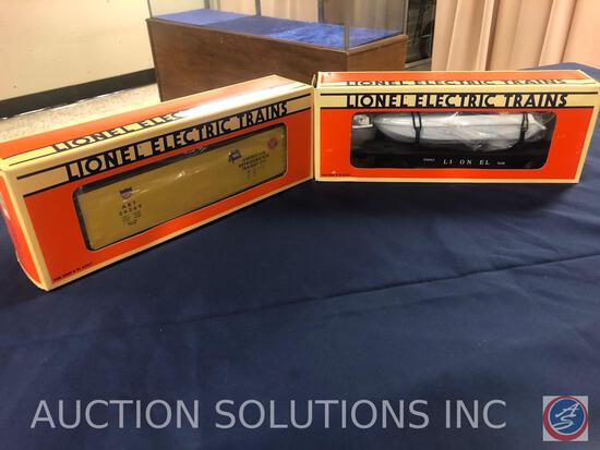 {{2X$BID}} 1990 Lionel Battery Operated Flatcar with Operation Boat No. 6-16661 and 1990 Lionel