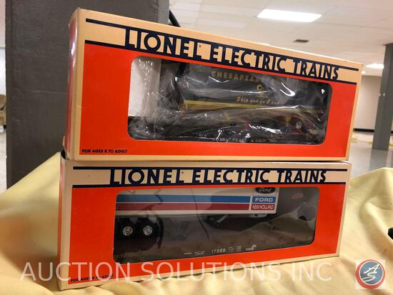 {{2X$BID}} 1991 Lionel Convention Car No. 6-17888 and 1995 Lionel Chesapeake and Ohio Flatcar with