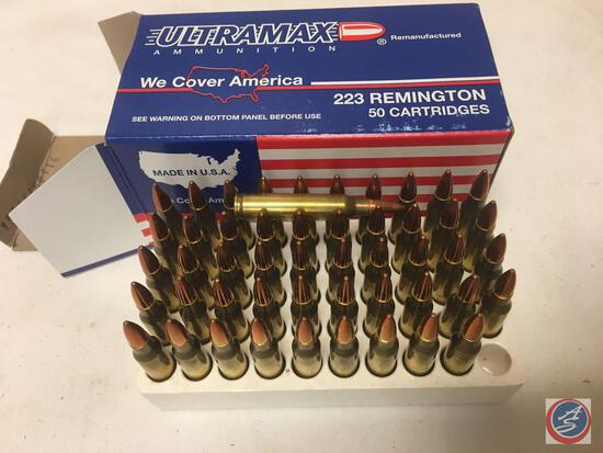 (10) 50 rd boxes of Ultramax .223 Ammunition, Factory Reloaded. {Sold Times the Bid}