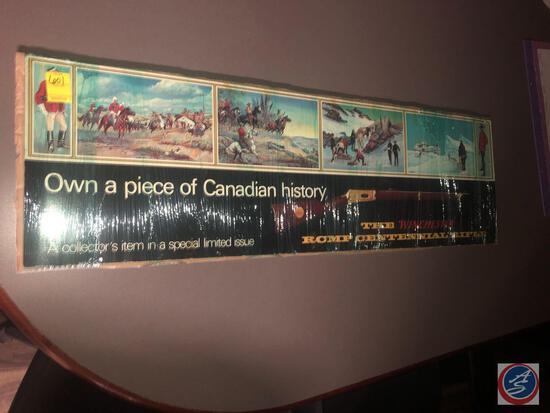 Winchester RCMP Centennial Rifle Poster on Cardboard