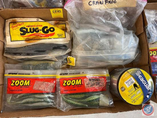 Seaguar Fishing Line, Variety of Bait Including Slug-Go and Zoom