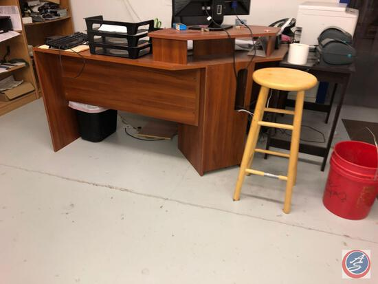 """Office Furniture Package Consisting of, 71"""" X 44"""" X 77"""" X 44"""" L Shaped Reception Desk (Missing"""