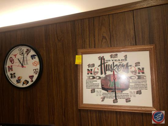 25 Years of Huskers Dominance Wall Clock 1973-1997, Big 12 Conference Wall Clock