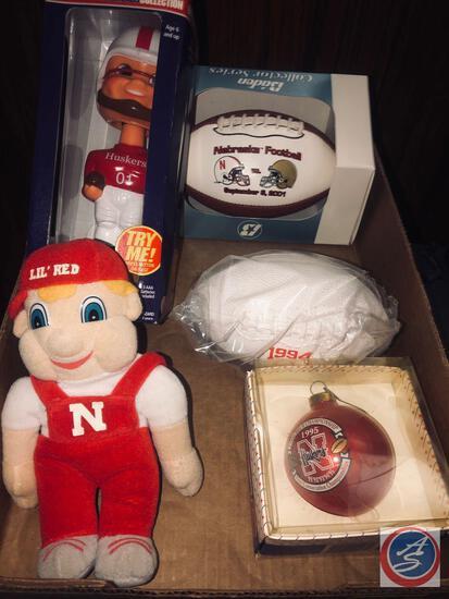 (2001) Bobble Head Doll by Gemmy, NE vs Notre Dame Sept. 8, 2001 Mini Football, (1994) National