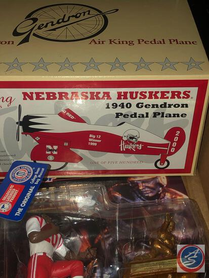 NE Huskers 1940 Genron Pedal Plane by Crown Premiums #488 / 500, 1997 Starting Lineup Heisman Trophy