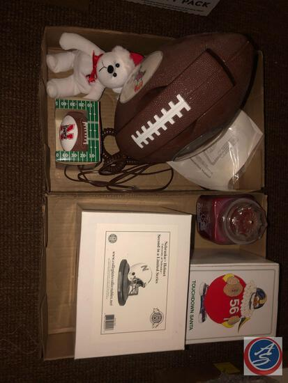 Collegiate Collectibles Nebraska Helmet 2nd in Limited Series, Noel Ornament Touchdown Santa,